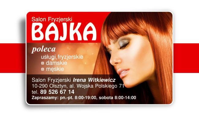 Taki pakiet wizytówek jest idealny dla salonu fryzjerskiego