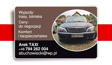 Taxi i wizytówka chodzą parami