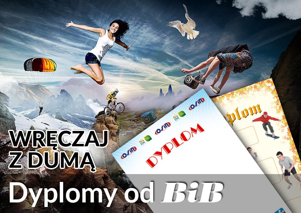 BiB poleca efektowne dyplomy Olsztyn, Zakole 17