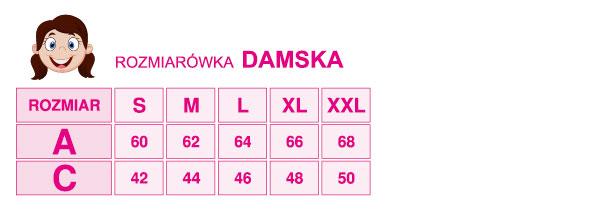 Tabel rozmiarów damskich w BiB Olsztyn